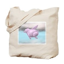 Flying Pig Graphic Tote Bag