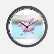 Flying Pig Graphic Wall Clock