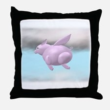 Flying Pig Graphic Throw Pillow