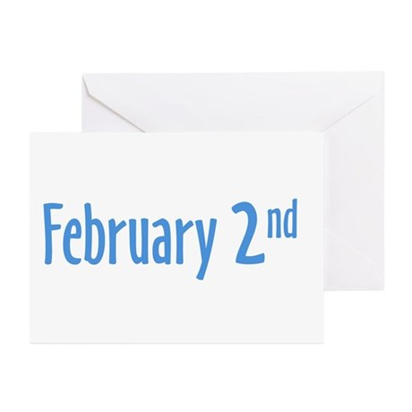 February 2nd groundhog Day Greeting Cards (Pk of 1