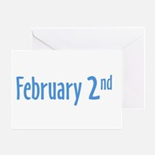 February 2nd groundhog Day Greeting Card