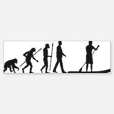 Evolution Stand Up Paddling Bumper Bumper Bumper Sticker