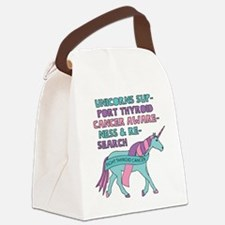 Unicorns Support Thyroid Cancer A Canvas Lunch Bag