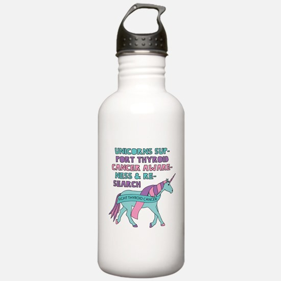 Unicorns Support Thyro Water Bottle