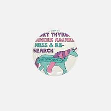 Unicorns Support Thyroid Cancer Awaren Mini Button