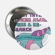 "Unicorns Support Thyroid Cancer Aware 2.25"" Button"