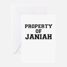 Property of JANIAH Greeting Cards