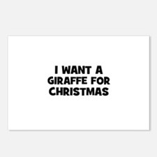I want a Giraffe for Christma Postcards (Package o
