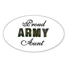 Proud Army Aunt Oval Stickers