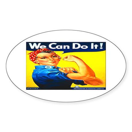 Rosie the Riveter Oval Sticker