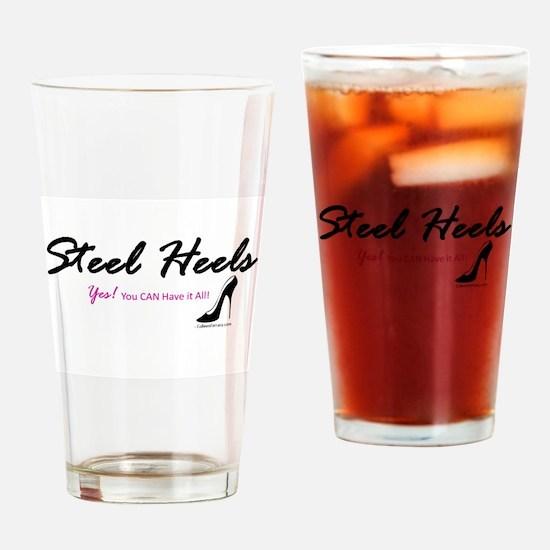 Steel Heels Drinking Glass