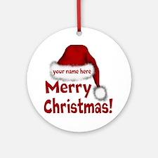Santa Hat Round Ornament