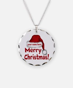 Santa Hat Necklace