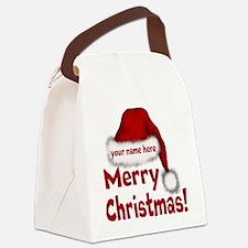 Santa Hat Canvas Lunch Bag