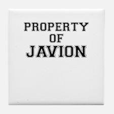 Property of JAVION Tile Coaster