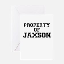 Property of JAXSON Greeting Cards