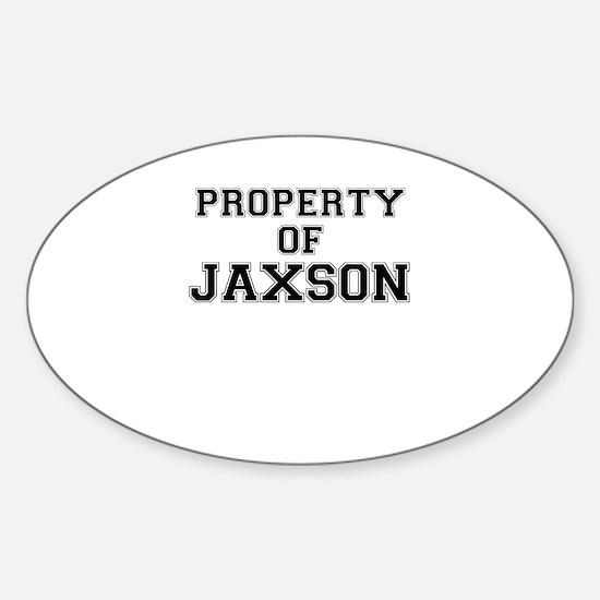 Property of JAXSON Decal
