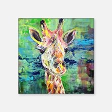 "Cute Giraffes Square Sticker 3"" x 3"""