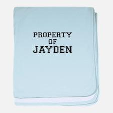 Property of JAYDEN baby blanket