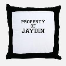 Property of JAYDIN Throw Pillow