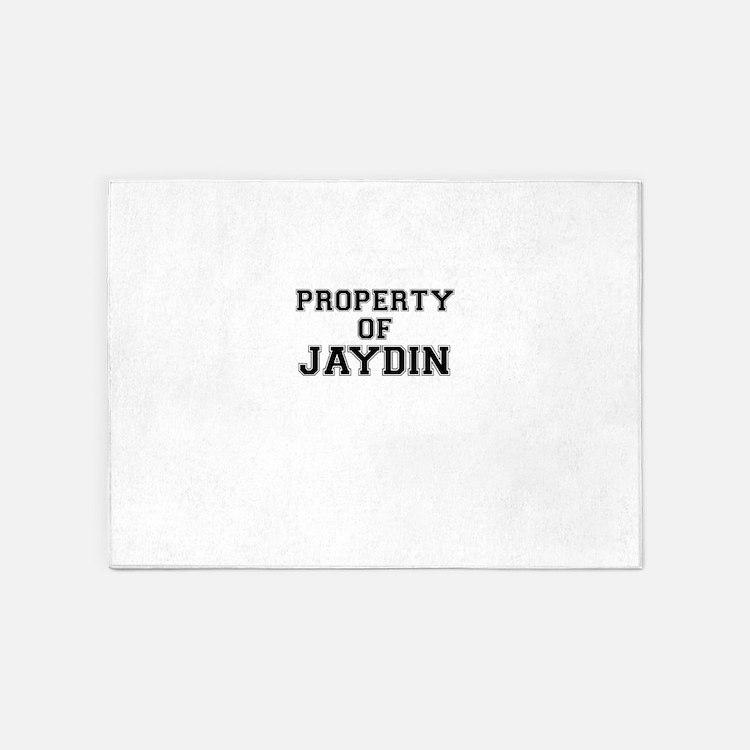 Property of JAYDIN 5'x7'Area Rug