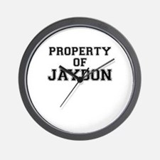 Property of JAYDON Wall Clock