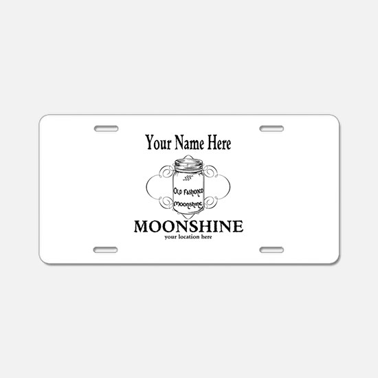 Homemade Moonshine Aluminum License Plate