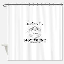 Homemade Moonshine Shower Curtain