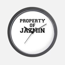 Property of JAZMIN Wall Clock