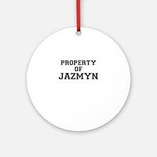 Property of JAZMYN Round Ornament