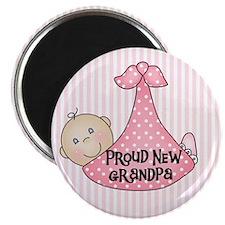 Baby Girl Proud New Grandpa Magnet