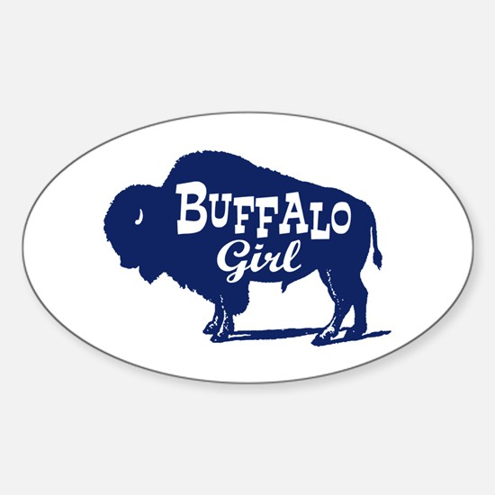 Buffalo Girl Sticker (Oval)