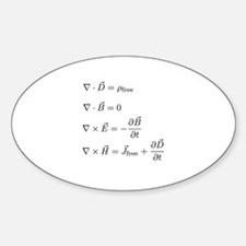 Maxwell's Equations Oval Decal