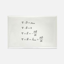 Maxwell's Equations Rectangle Magnet (10 pack)