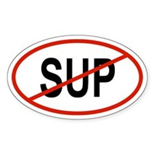 SUP Oval Stickers