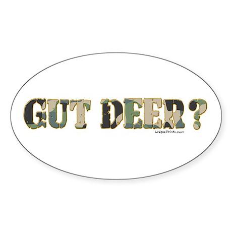 GUT DEER? Oval Sticker