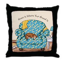 Home Hound Throw Pillow