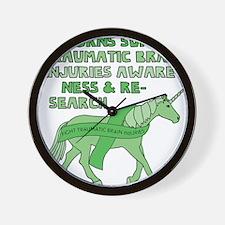 Unicorns Support Traumatic Brain Injuri Wall Clock