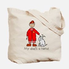 F is for Fireman Firefighter Tote Bag