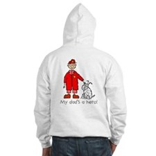 F is for Fireman Black Firefighter Hoodie