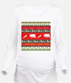 Christmas in the woo Long Sleeve Maternity T-Shirt