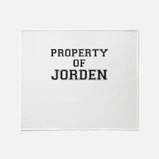 Property of JORDEN Throw Blanket