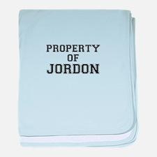 Property of JORDON baby blanket
