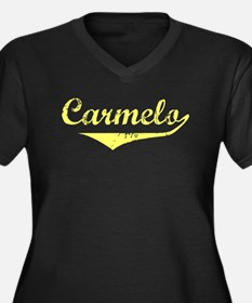 Carmelo Vintage (Gold) Women's Plus Size V-Neck Da