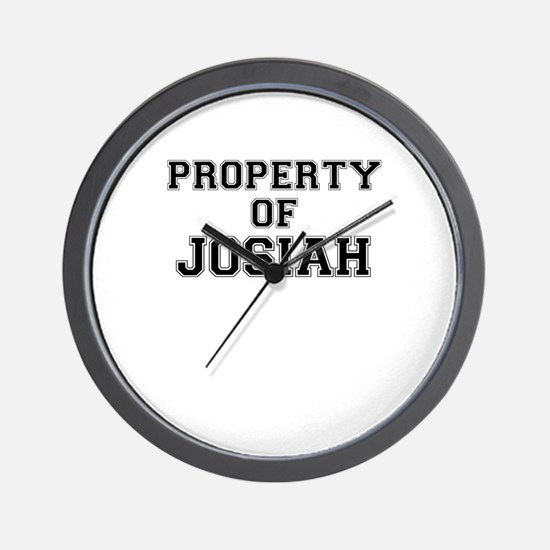 Property of JOSIAH Wall Clock