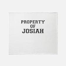 Property of JOSIAH Throw Blanket