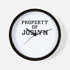 Property of JOSLYN Wall Clock
