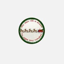 Drawn by Eight Tiny Reindeer Mini Button