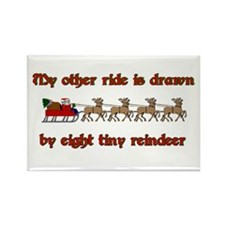 Drawn by Eight Tiny Reindeer Rectangle Magnet