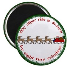 "Drawn by Eight Tiny Reindeer 2.25"" Magnet (10 pack"